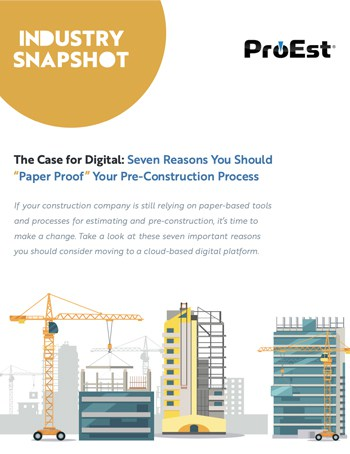 "The Case for Digital: Seven Reasons You Should ""Paper Proof "" Your Pre-Construction Process"