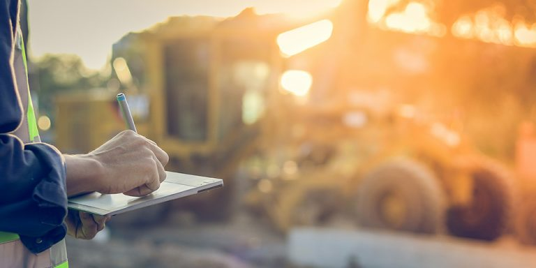 Construction Estimator Onsite With Tablet