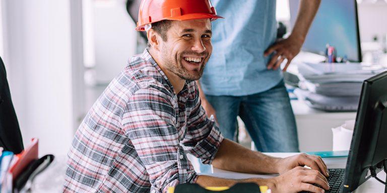 Estimador de la construcción sonriente