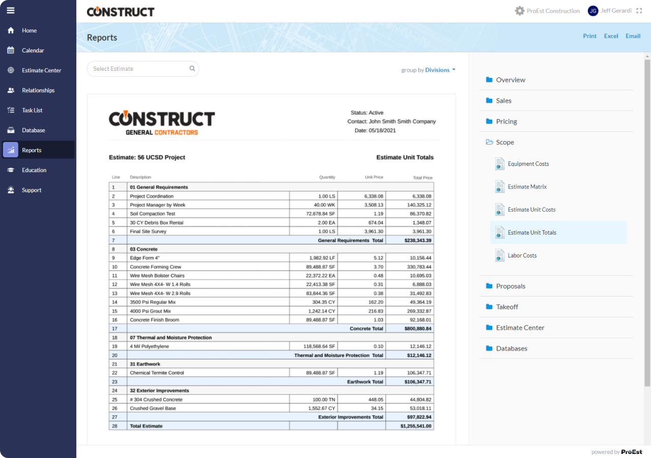 Construction Reporting